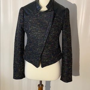 Willow & Clay Black Muti Color Tweed Faux Leather